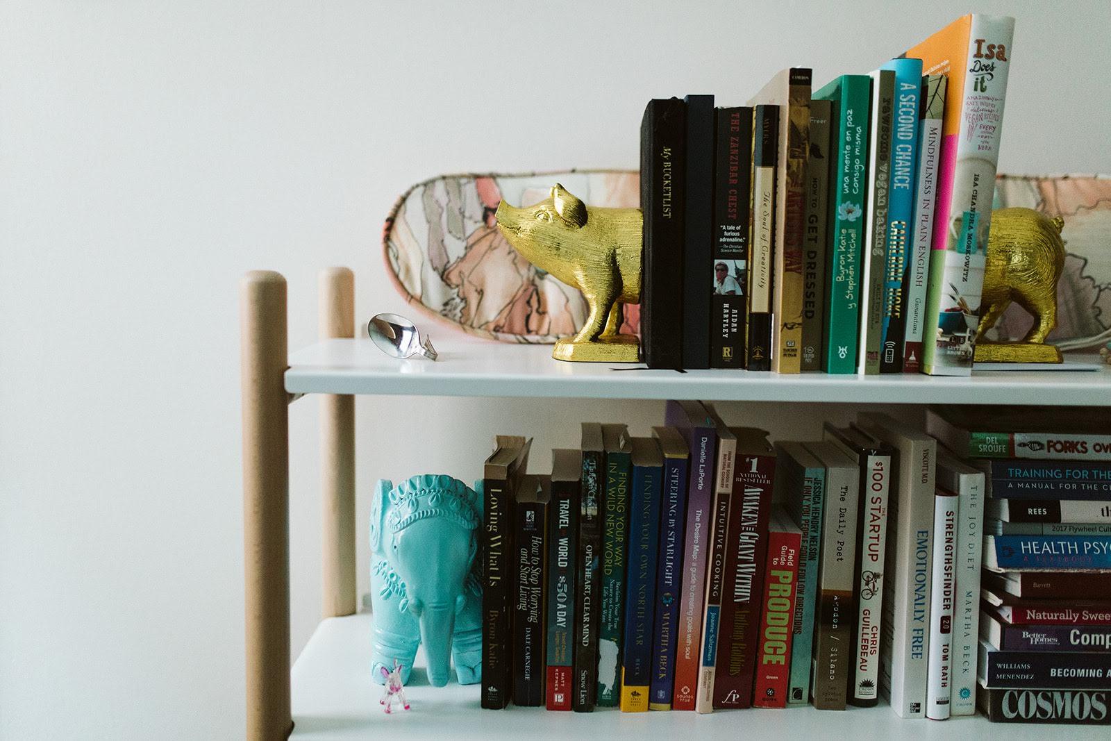 my cute bookshelf