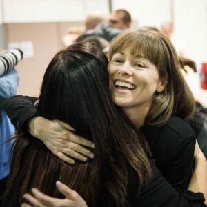 life coach hug